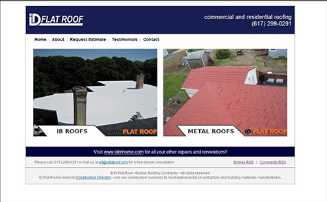 Custom WordPress theme for a roofing company